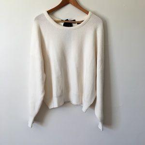 ZARA Knit Thick Ultra Soft Knit Sweater Bow Back